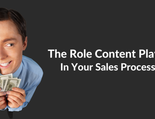 The Role Content Plays In Your Sales Process